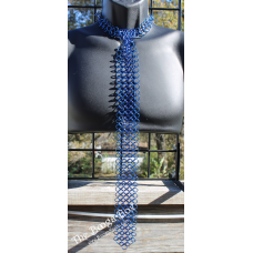 European 4-1 Large Neck Tie - Anodized Aluminum