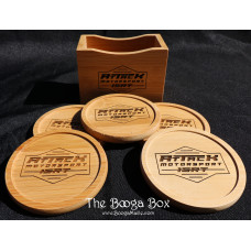 Attack Motorsport Bamboo Coasters