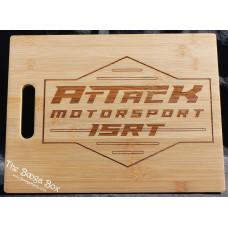 Attack Motorsport Large Cutting Board w/ Cut in Handle