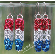 Box Chain Earrings - Anodized Aluminum