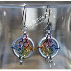 Flower Pot Earrings - Anodized Aluminum