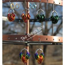 Hanging Rings Earrings - Anodized Aluminum