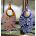 Large Damascus Etched SIngle Scale Earrings - Anodized Aluminum