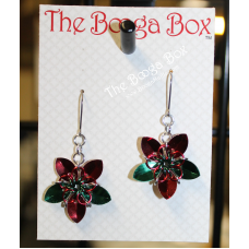 Mini Scale Flower Earrings – Anodized Aluminum