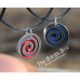 Timey Wimey Swirl Pendent - Stainless Steel/Anodized Aluminum