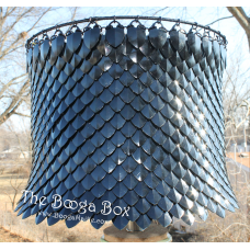 Large Scale Lamp Shade - Anodized Aluminum/Plastic Scales